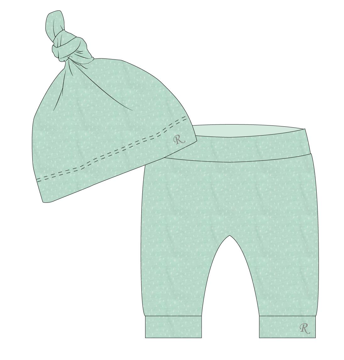 Wonderbaarlijk Baby broekje met muts (maat 50) - Oog voor kleur en stijl NM-98